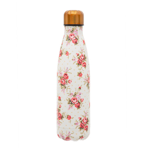 2 in 1 Water Bottle - Vintage Rose 8852
