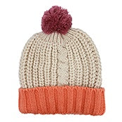 Disaster Cable Knit Cream Hat 346