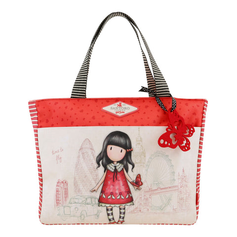 Gorjuss Cityscape Carry-All Bag - Time to Fly 7585