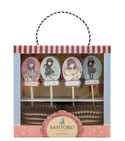 Gorjuss Cupcake Set - Sweet Tea & Sweet Cake 6362