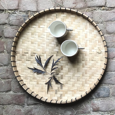 Wooden Round Tray Large 9105