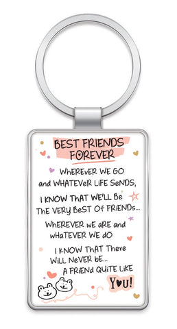 Inspired Words Keyring - Best Friends Forever 6437