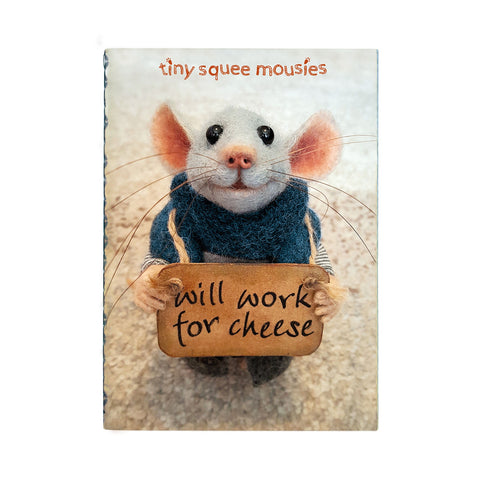 Tiny Squee Mousies Set of 2 Stitched Notebooks - Work for Cheese/Little Hug 9516