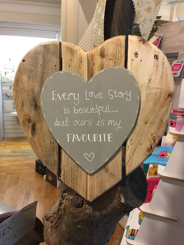 Pallet Heart with Heart Plaque 7188