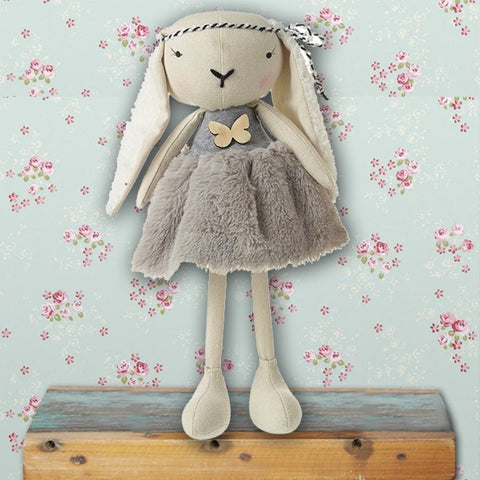 Lop Ear Rabbit in Grey Dress 8888