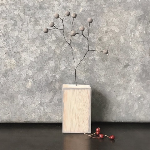 Berry Branch In Block - Grey 9142