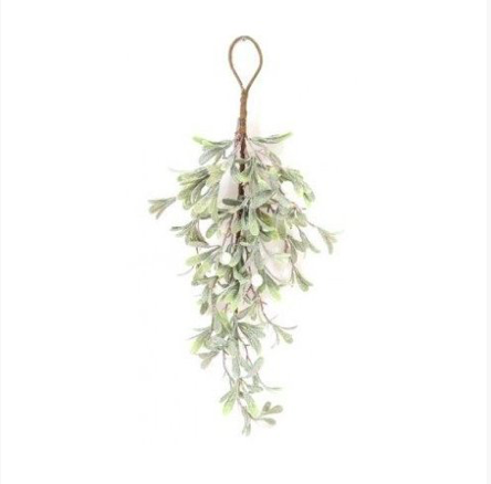 Snow Effect Hanging Mistletoe 60cm 10438