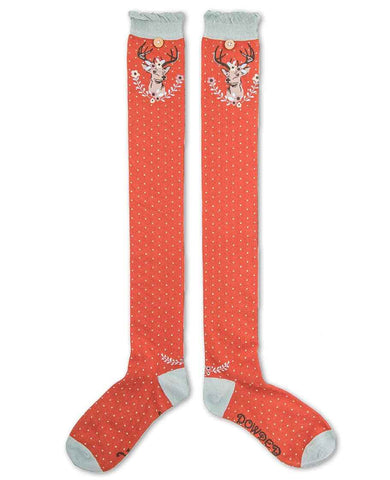 Powder Long Sock - Stag Tangerine 6672
