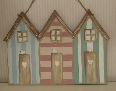 Beach Huts Handmade Plaque 5266