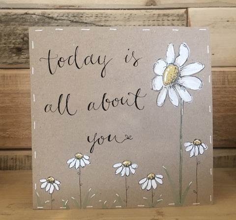 Handmade Tall Daisy Card - All About You 9906