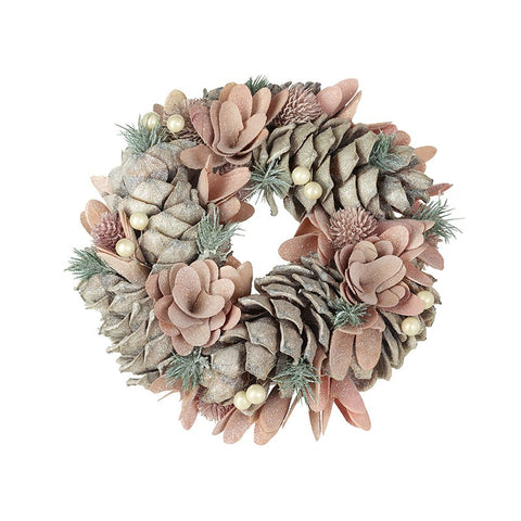 Pinecone & Bark Wreath 8197