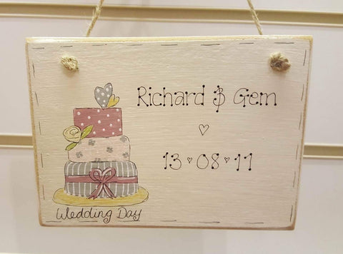 Oopsy Daisies Painted Design Md plaque - Cake 3708