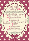 Little Persons Afternoon Tea Party Package - Standard