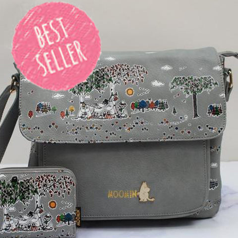 Disaster Moomin Satchel Meadow Print 8350