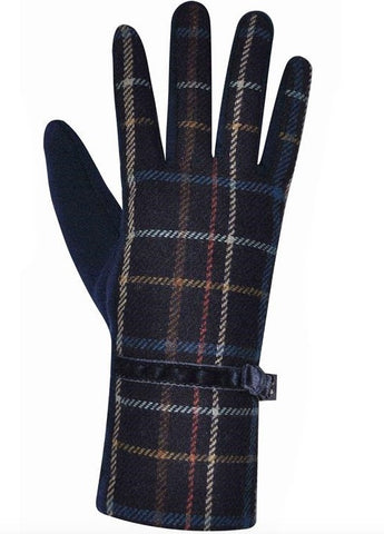 Tweed Gloves - Navy 7107