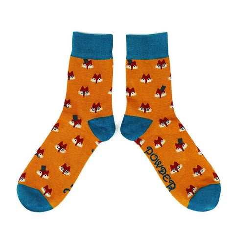 Powder Men's Socks - Fox Faces 10548