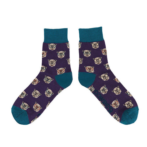 Powder Men's Socks - Westie in Purple 10550