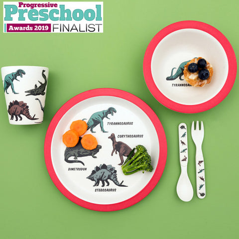 Bamboo Tableware Children's Set - Prehistoric Land 11209