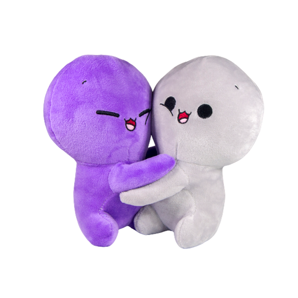Purple-Grey Plush