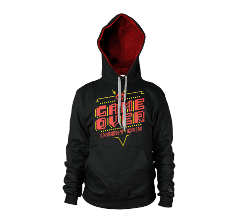 Game Over Insert Coin Hoodie