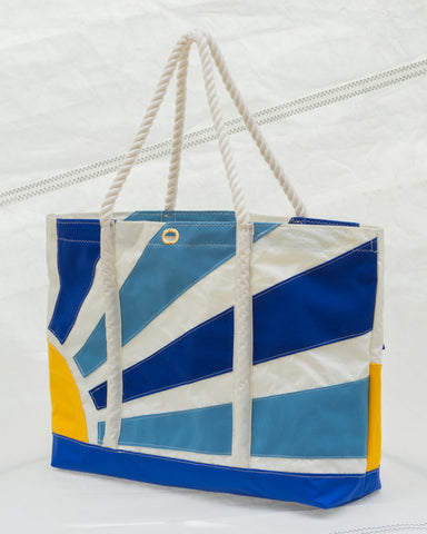 Rising Sun Sailcloth Beach tote