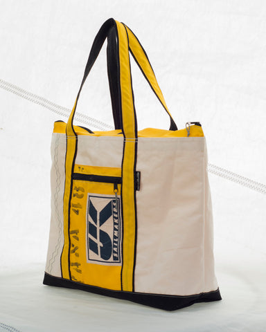 UK sail cloth beach bag