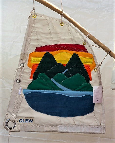 Sailcloth Fabric Art: Mountain Sunset
