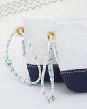 Navy Blue Sailcloth Wristlet Bag
