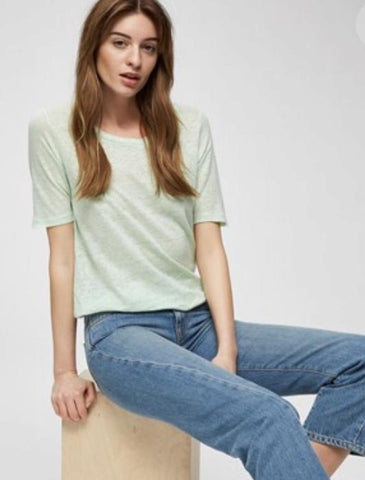 Selected Femme - SLFteri linen knit top