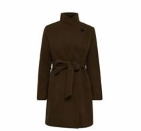 B Young - Cirline Black belted short coat
