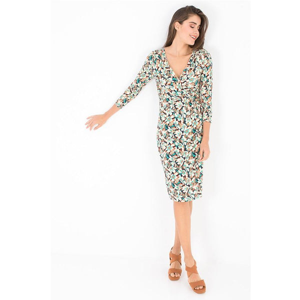 Smash -  Daphne printed faux wrap dress