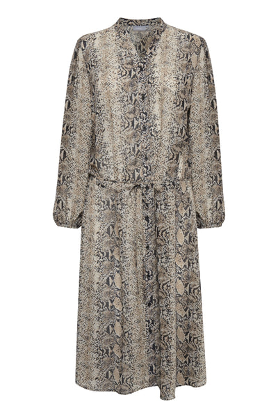 B Young - Bygesnake chiffon print dress