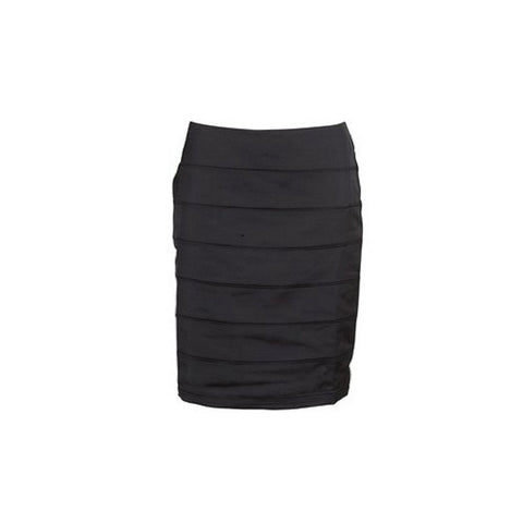 B Young - Annett black satin skirt