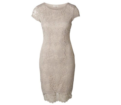 Selected Femme - Charlotte silver cloud lace dress