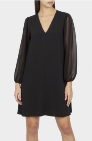 Cotton brothers  - Black dress with chiffon sleeves