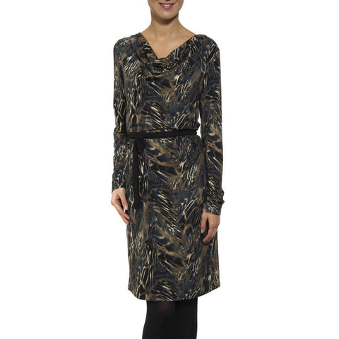 Smash - Ignacia printed cowl neck dress