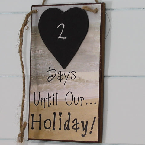 Wooden Plaque - Holiday Countdown