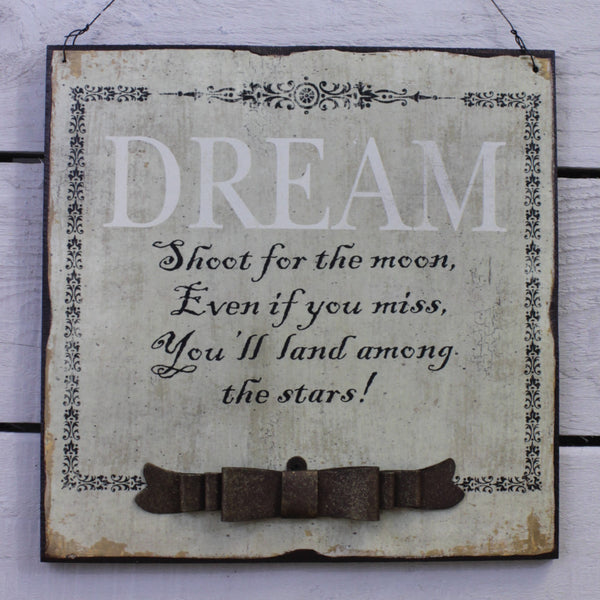 Wooden Hanging Sign - Dream