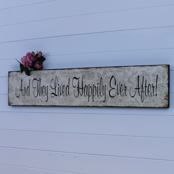 Wooden Plaque - Happily Ever After