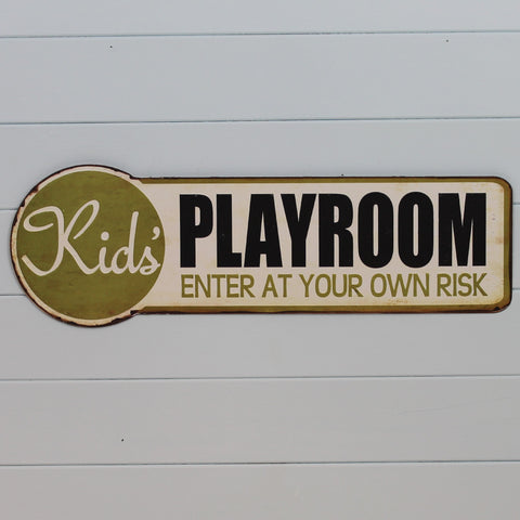 Metal Hanging Sign - Kid's Playroom