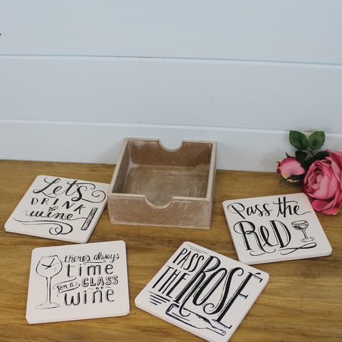 Humerous Wine Coaster Set