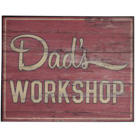 Wooden Hanging Plaque Dad's Workshop