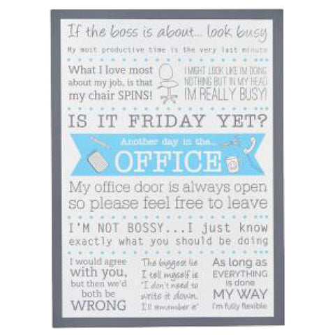 Hilarious Office Wooden Hanging Plaque
