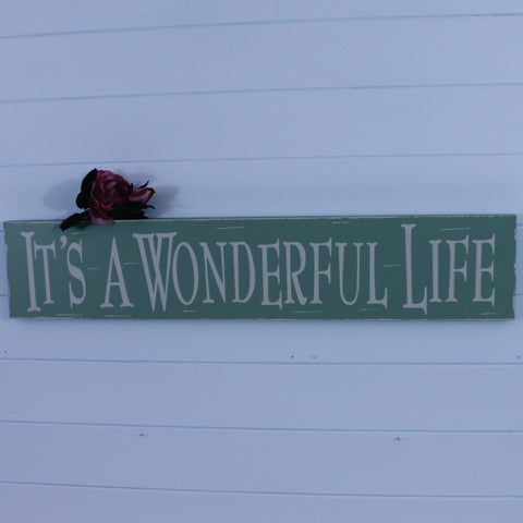 Wooden Plaque - It's a Wonderful Life
