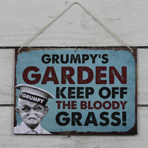 Vintage Tin Hanging Sign - Grumpy's Garden