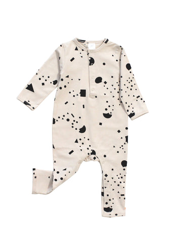 Tinycottons - Geometry Chat One Piece (Beige / Black) - BubbleChops