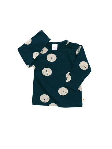 Tinycottons - Faces T-shirt (Navy) - BubbleChops