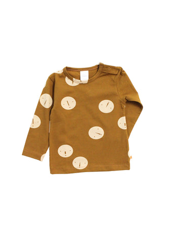 Tinycottons - Faces T-shirt (Brown / Beige) - BubbleChops