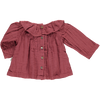 Poudre Organic - Maroon Blouse with collar - BubbleChops - 2