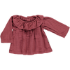 Poudre Organic - Maroon Blouse with collar - BubbleChops - 1